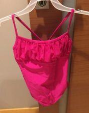 New Girls Gymnastics Dance Rhythmic Leotard Rhinestones Size 152-158 11-12 Pink