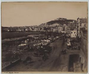 Sommer, Italia, Napoli, Marina Vintage Albumen Print Tirage albuminé  20x2