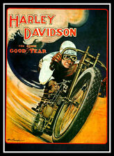 Harley Davidson FRIDGE MAGNET 11x15 Vintage Poster on a Magnetic Canvas