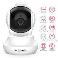 Wireless Indoor HD 2MP 1080P IP Camera CCTV Security IR-CUT Wifi Night Vision