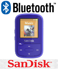 SanDisk Clip Sport Plus 16GB BLUE Wireless Bluetooth MP3 Player FM RADIO Music