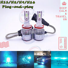 H11 H8 H9 LED Headlight Bulb Kit High Low Beam Factory 55W 8000LM 8000K Ice Blue