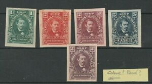 HONDURAS SMALL LOT OF CLASSICS, IMPERFORATED AND PROOFS, SEE!!
