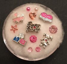 Floating Charm Set~*~ Its A GIRL BABY Shower on Board~*~for Living Memory Locket