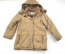 bd85e7ca459 Vintage 1960s 1970s Parka Jacket 60s 70s Clothing Sears Sz 16 Wool Blend  Lined