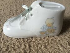 Precious Moments Heaven Bless You Shoe Bank Baby Boy 1989 Wood Bath Tub Stopper