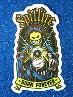 """Spitfire """"Burn Forever"""" Vinyl Sticker (Lot of 2)"""