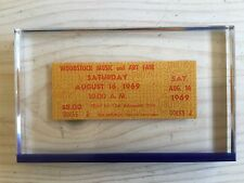 Rare original Woodstock ticket