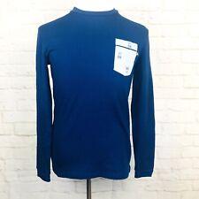 Psycho Bunny Men S Blue Long Sleeve Cotton Thermal PB Logo Pajama Top Shirt SJ