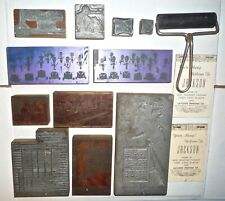 Old Typeset Printing Blocks War Bonds, UAWA, KIMCO, Miss TENN & Casey Jones Adv.