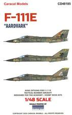 Caracal Decals 1/48 General Dynamics F-111E Aardvark