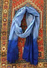Moroccan Berber Tuareg Scarf- Long Handmade Ethnic Turban Unisex Adult- Lt Blue