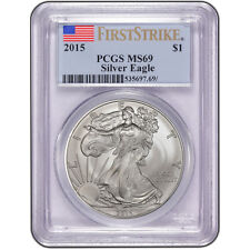 2015 American Silver Eagle - PCGS MS69 - First Strike Beautiful Coin