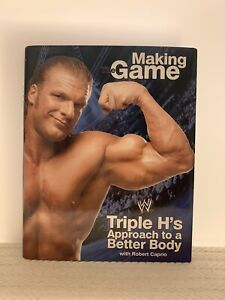 SIGNED Making The Game Triple H's Approach To A Better Body Book,Hardcover New