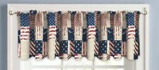 "Americana Patriotic Elites USA Stars And Stripes Window Valance, 60"" x 14"" - NEW"