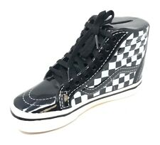Vans Off The Wall SK8-Hi Ceramic Piggy Bank - Black/White Checkerboard