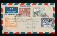 KUT 1949 UPU REGISTERED AIRMAIL FDC...SMALL FAULT