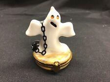 Artoria Limoges Trinket Box Ghost with Ball & Chain Peint Mein