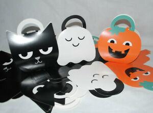 Wholesale Job Lot 75 x Halloween Gift Trick or Treat Bags Cardboard Mixed Set