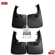 Front & Rear Black Molded Splash Guards Mud Flaps For RAM 2009-2019 Replace OEM