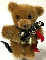 "Rare Hermann 4"" Oktoberfest Brown Mohair Teddy Bear Pin"