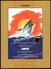 "JAWS__Original ""1974"" IN PREPARATION Trade AD / poster__STEVEN SPIELBERG_1975"
