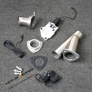 New 3'' 76mm Stainless Steel Electric Exhaust Cut Out + Remote Control Unit Set