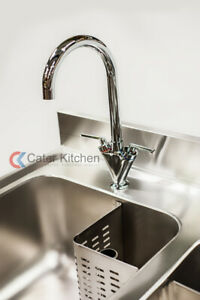 Stainless Steel Commercial Lever Mixer Tap For Catering Sinks