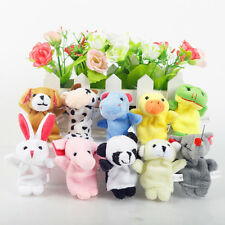 10pcs Family Finger Puppets Cloth Doll Cartoon Animal Toy Baby Educational