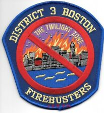 """*NEW*  Boston District - 3  """"Twilight Zone"""", MA (4.75"""" x 5"""" size) fire patch"""