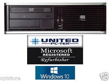 HP Computer Windows 10 Home Intel Dual Core 500GB 4GB DVD/RW PC Desktop WiFi