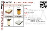 KIT 4 FILTRI TAGLIANDO SEAT LEON III 12-> / ATECA 16-> 1.6 2.0 TDI