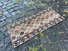 Turkish doormats, Handmade rug, Vintage rug, Carpet, Home decor | 1,2 x 3,0 ft
