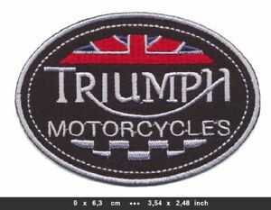 TRIUMPH Patches Aufnäher Aufbügler Motorrad Speed Triple Scrambler Bonneville v9