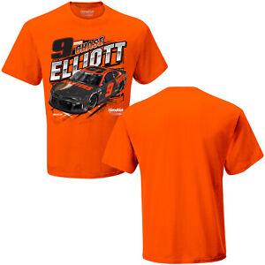 Chase Elliott 2021 #9 Dark Hooters Scheme Qualifying NASCAR Orange Shirt