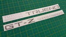 Toyota Trueno Levin GT-Z corolla tailgate replacement stickers graphics decals