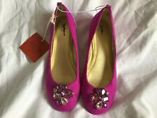 MOSSIMO Women's Shoes / Flats Magenta Suede Rhinestone Size 5.5 MEDIUM NWT