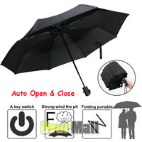 Compact Umbrella Automatic Open&Close  Folding Windproof Strong Travel Wind Gift