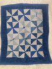 Old Blue Calico Pinwheel Miniature Quilt