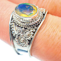 Ethiopian Opal 925 Sterling Silver Ring Size 8.5 Ana Co Jewelry R36228F