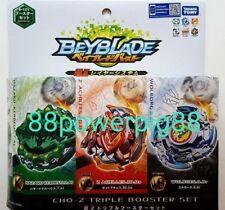 Takara Tomy Beyblade Burst B-121 Cho-Z Triple Booster Set US Seller