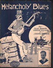 Melancholy Blues 1918 Spencer Williams Large Format Sheet Music
