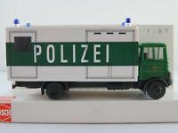 """Busch 40765 MB LP 809 Pferdetransporter (1982) """"Polizei Ba-Wü"""" 1:87/H0 NEU/OVP"""