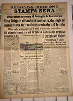 WW2@LA BATTAGLIA DI MARMARICA@ STAMPA SERA DEL 29-30/11/1941