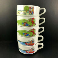 Vintage Campbell's Soup Kids Handled Bowl Mug Lot of 5