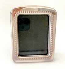 Sterling Silver 925 Wood Bead Design 1Photo Picture Frame Mini 30mm x 40mm