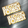 (2) TWO ELECTRIC FOREST Vinyl Decal Sticker For Car Laptop Skateboard NEW EDM