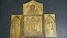 Triptych Bronze Icon Beatification St. Kalinowski & Chmielowski by Pope Paul II