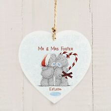 Me to You Personalised Romantic Christmas Decoration Wooden Gift Tatty Teddy
