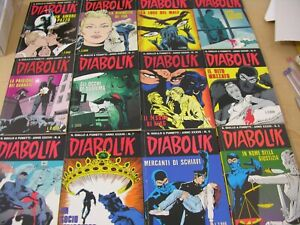 DIABOLIK Complete year 1998- 12 volumes FIRST EDITION ORIGINAL ITALIAN EDITION
